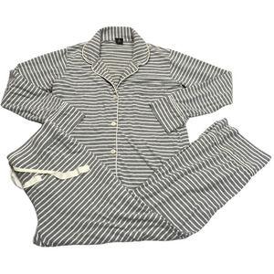 J. Crew Pajamas Striped Grey White Sleep Set SP